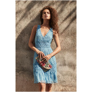 Anthropologie Ranna Gill Blue Lace Dress